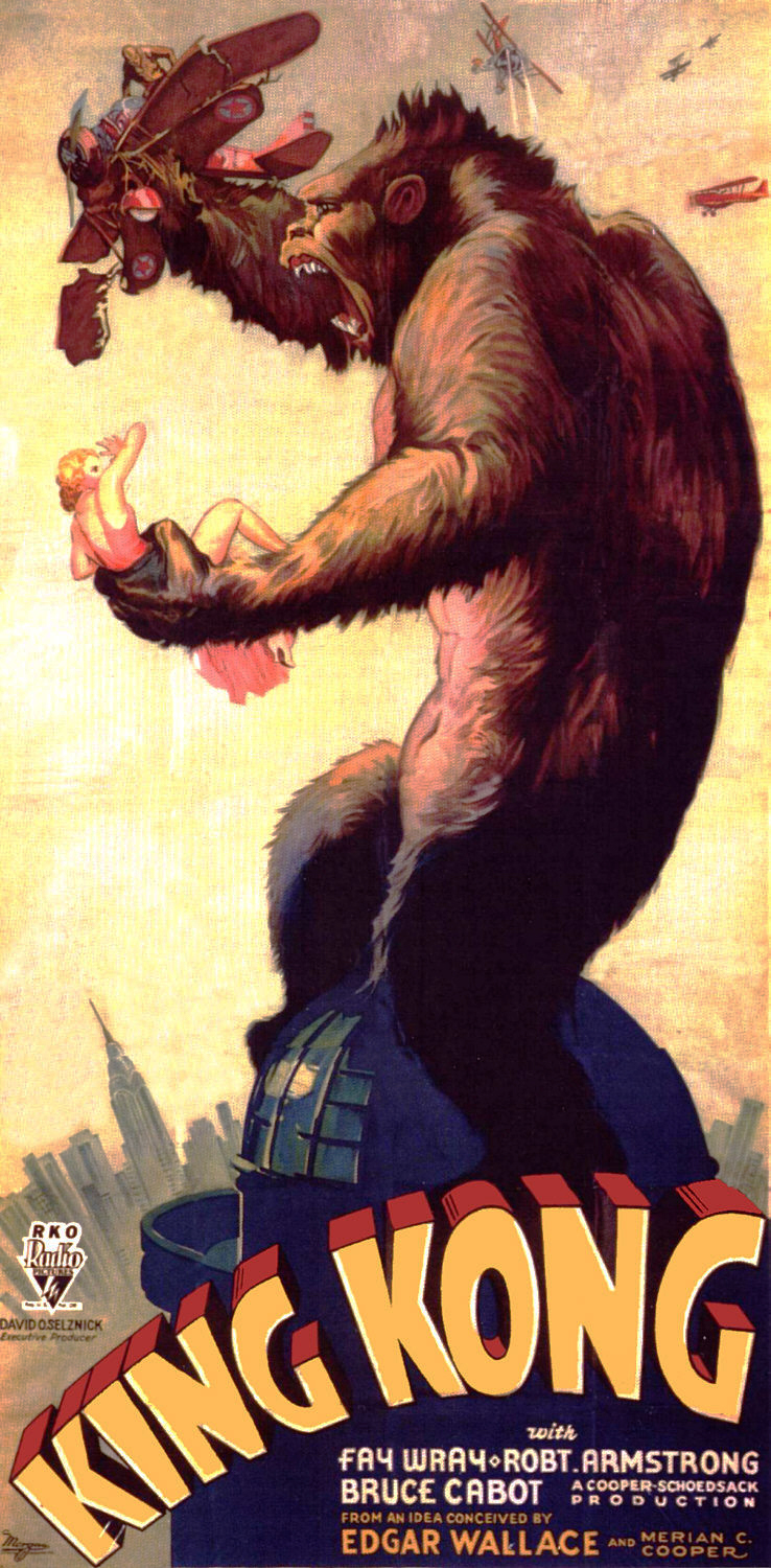 Movie poster of 1933 Film King Kong