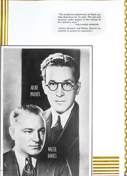 Archie Marshek and Walter Daniels in a newspaper clipping