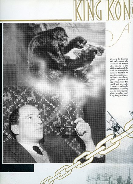 Fay Wray's program from the Hollywood premiere of King Kong,