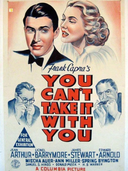 Movie poster of Frank Capra's You Can't Take It With You